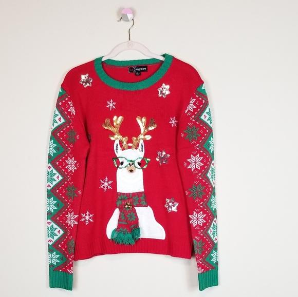 4049754b149 Llama Ugly Christmas Sweater